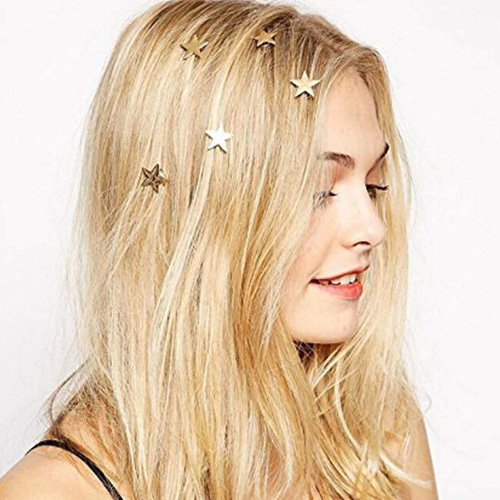 Yean Gold Star Hair Clips