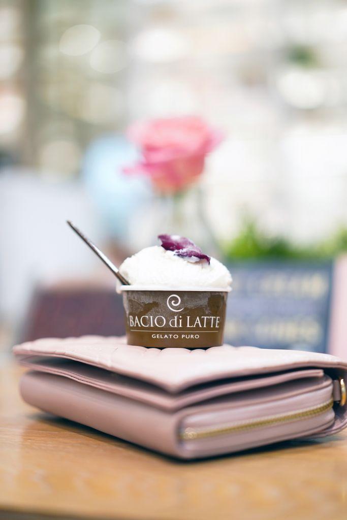 Bacio Di Latte Vanilla Rose Gelato at Fashion Island