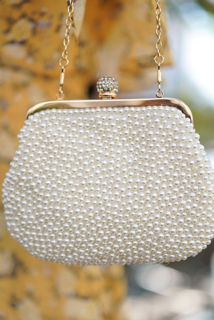 Morning Lavender Rosaleen Pearl Clutch