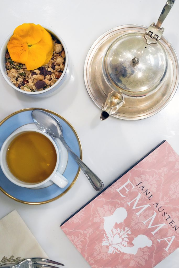 Laduree Granola, Tea and Emma by Jane Austen book