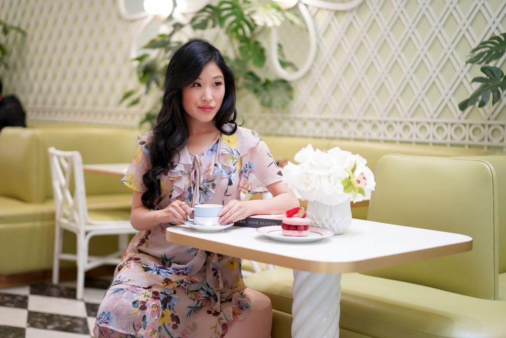 Laduree Beverly Hills, Band of Gypsies Sunny Mauve Floral Print Ruffled Mini Dress