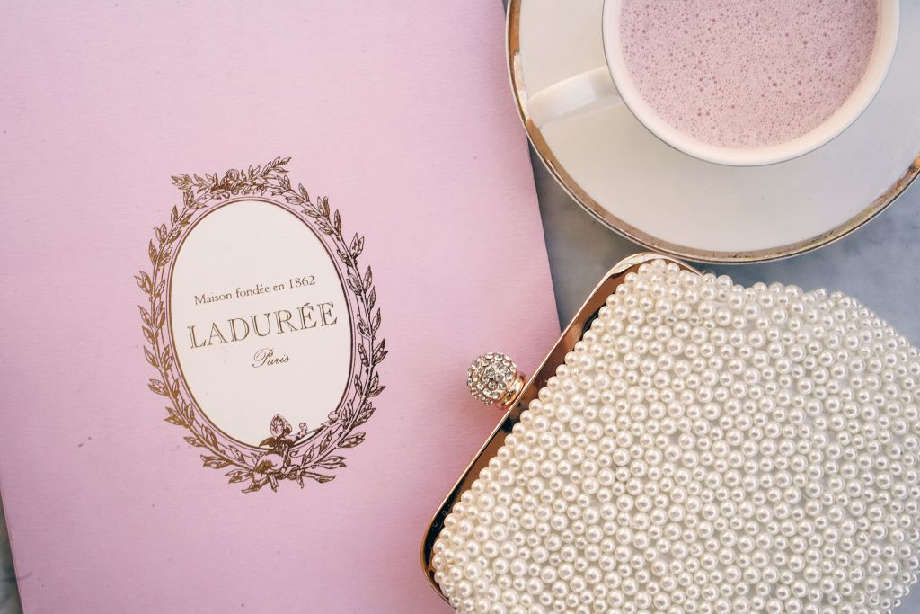 Laduree Pink Menu, Rose Milk Latte