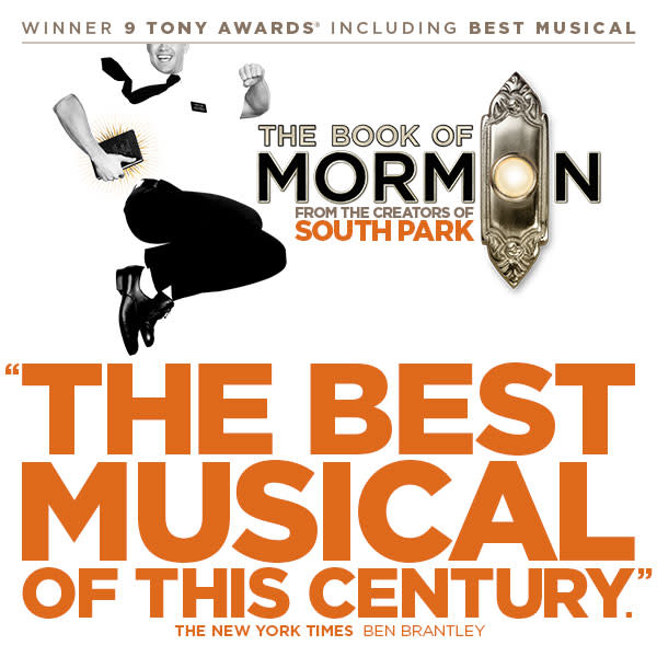 The Book of Mormon Musical Tour at Ahmanson Theatre Los Angeles