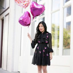 Valentine's Day Kate Spade Sequin Cherry Dress, Heart Balloons, Confetti Heart Balloon by Top Malibu