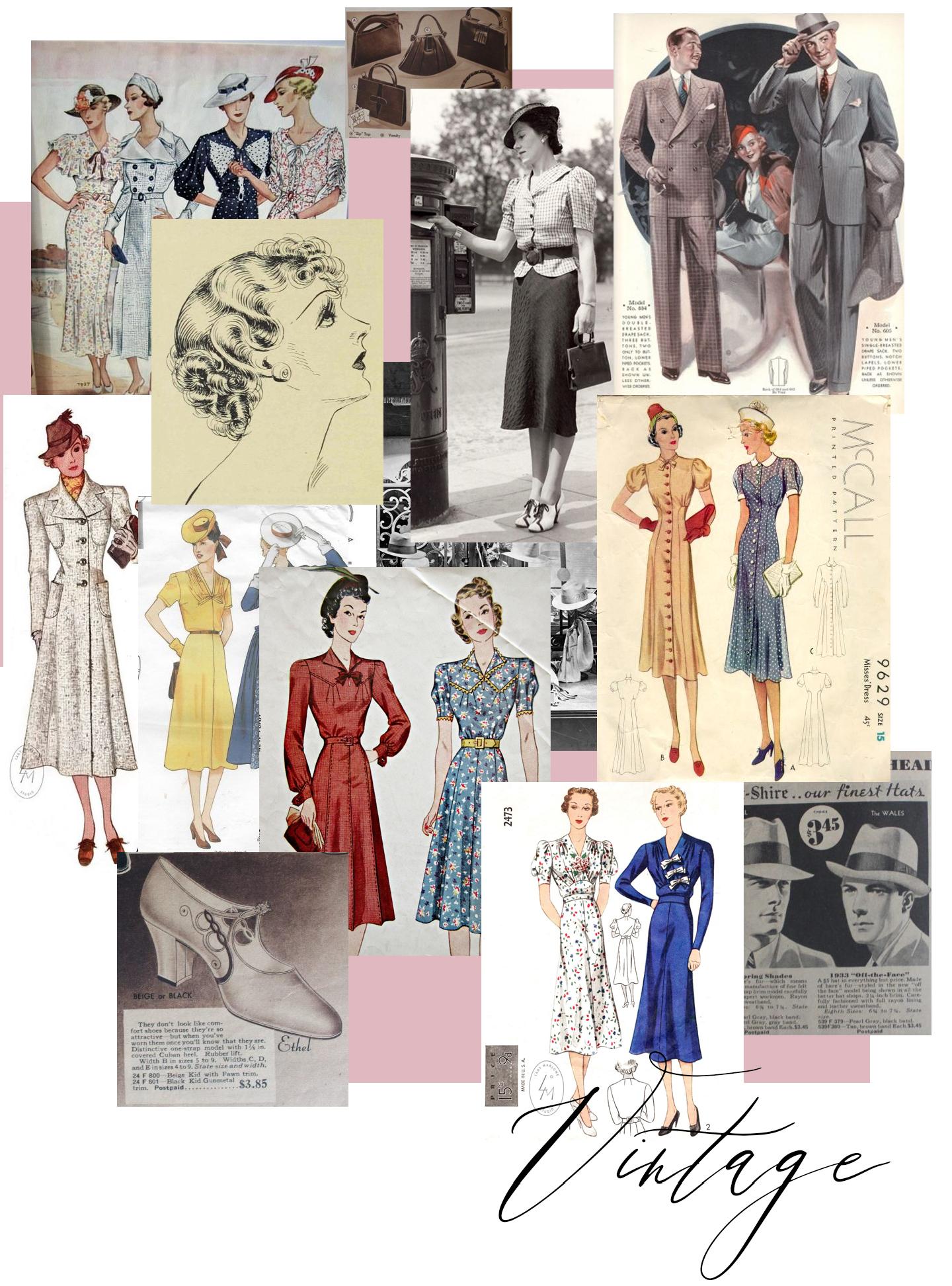 1930's Fashion, Vintage Inspiration