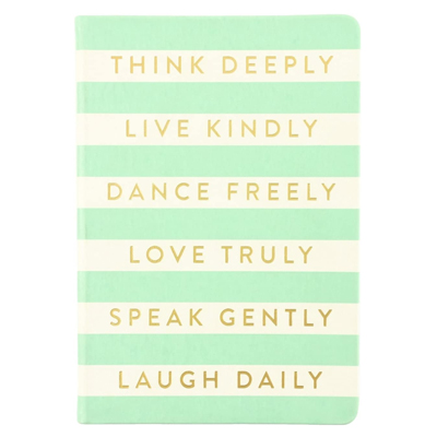 "Think Deeply, Live Kindly 6"" x 8"" Style Journal"