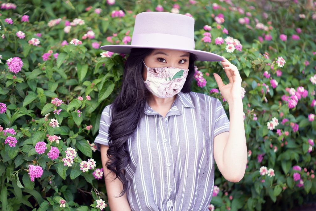 Lost and Wander Floral lavender face Mask