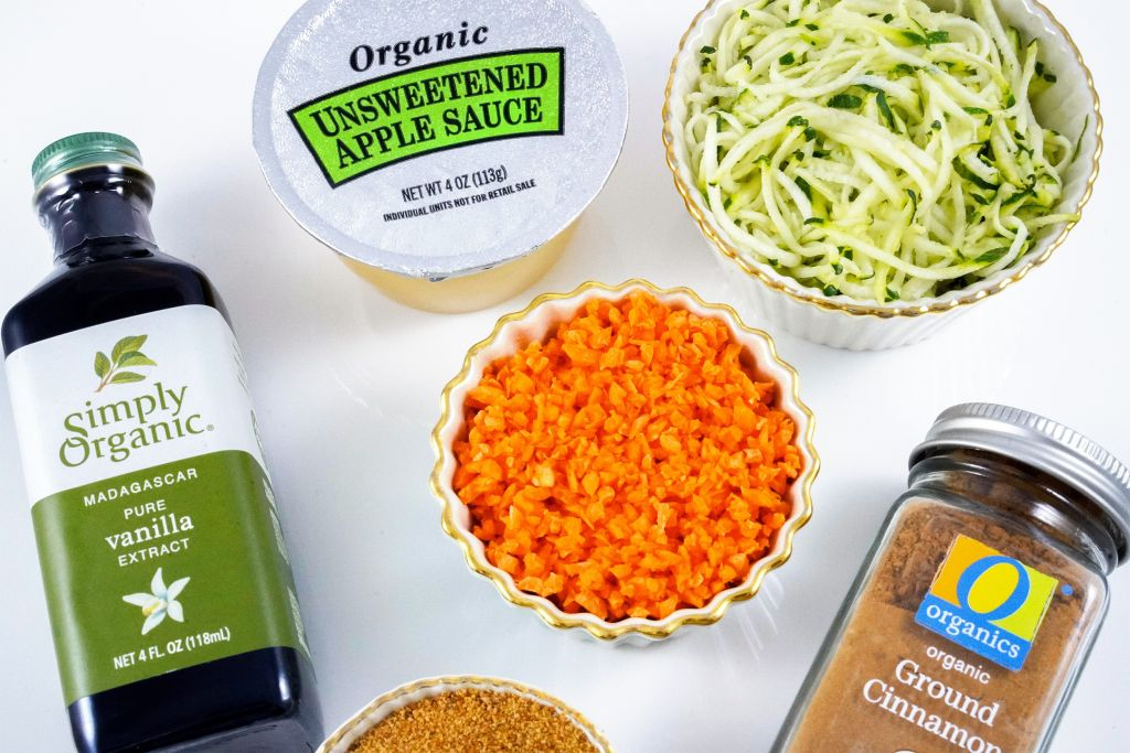 Zucchini Carrot Mini Muffins Ingredients