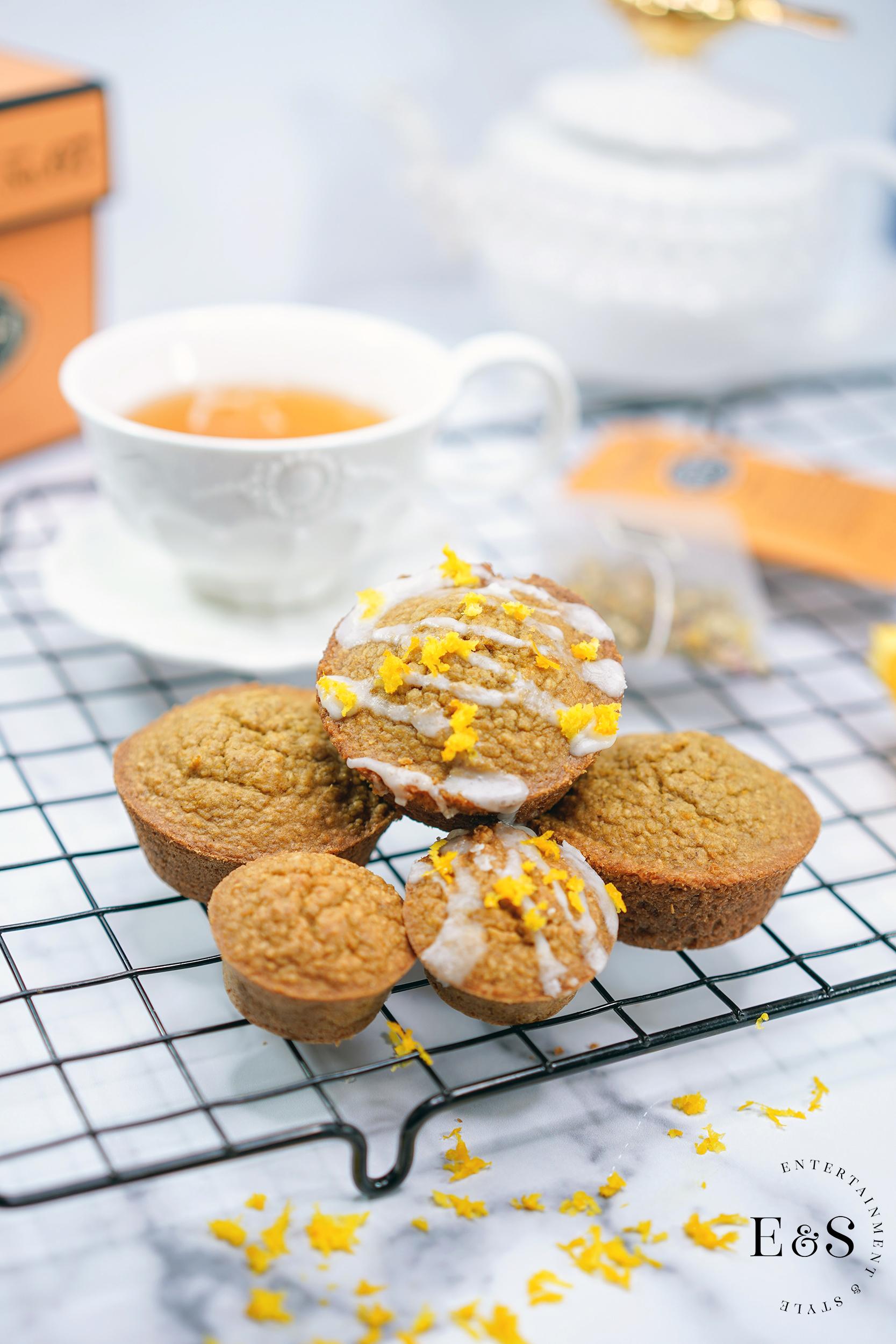 Orange Muffins gluten free with orange zest