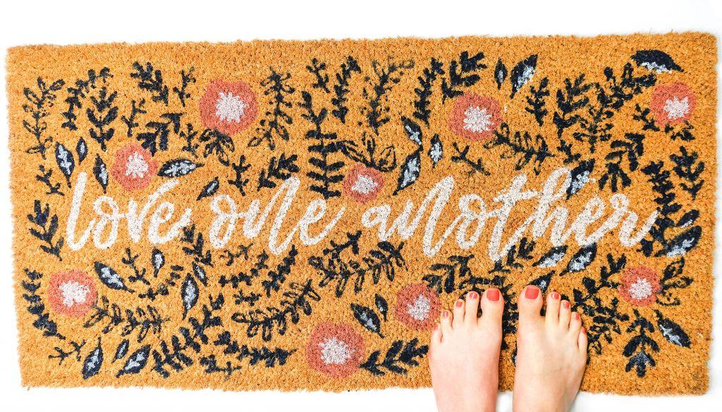 Love One Another Coir Door Mat