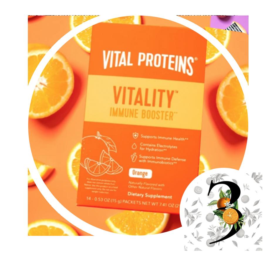 Vital Proteins Vitality Orange Stick Pack Box