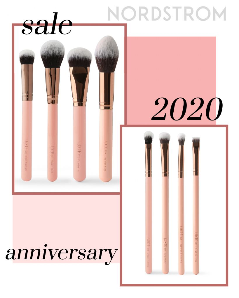 Luxie Rose Gold Eye Brush and Face Brush Set for Nordstrom Anniversary Sale 2020