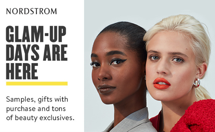 Nordstrom Anniversary Sale 2020 Glam-Up Days Informational graphic
