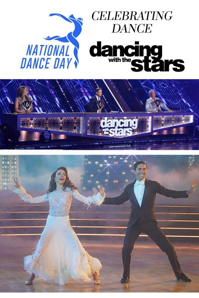 Celebrating National Dance Day 2020 and Watching Dancing With the Stars Season 29 - Cover Images are of the judges and of professional dancer Jenna Johnson and celeb partner Nev Schulman