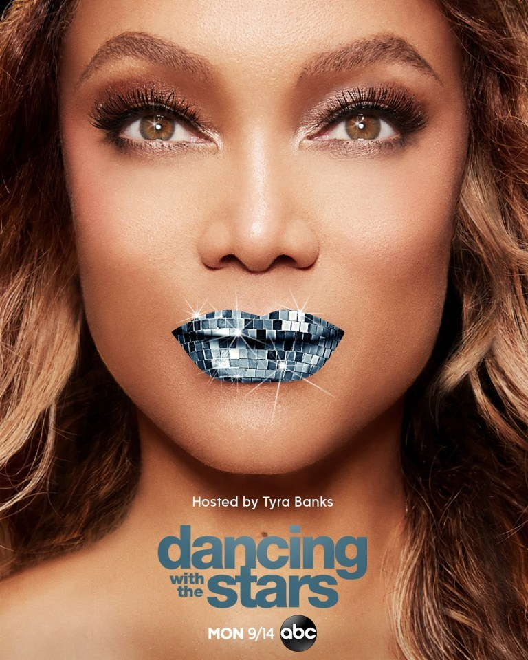 Tyra Banks on the cover of Dancing With the Stars Season 29 Poster