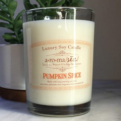 Aroma Seize Pumpkin Spice Soy Candle