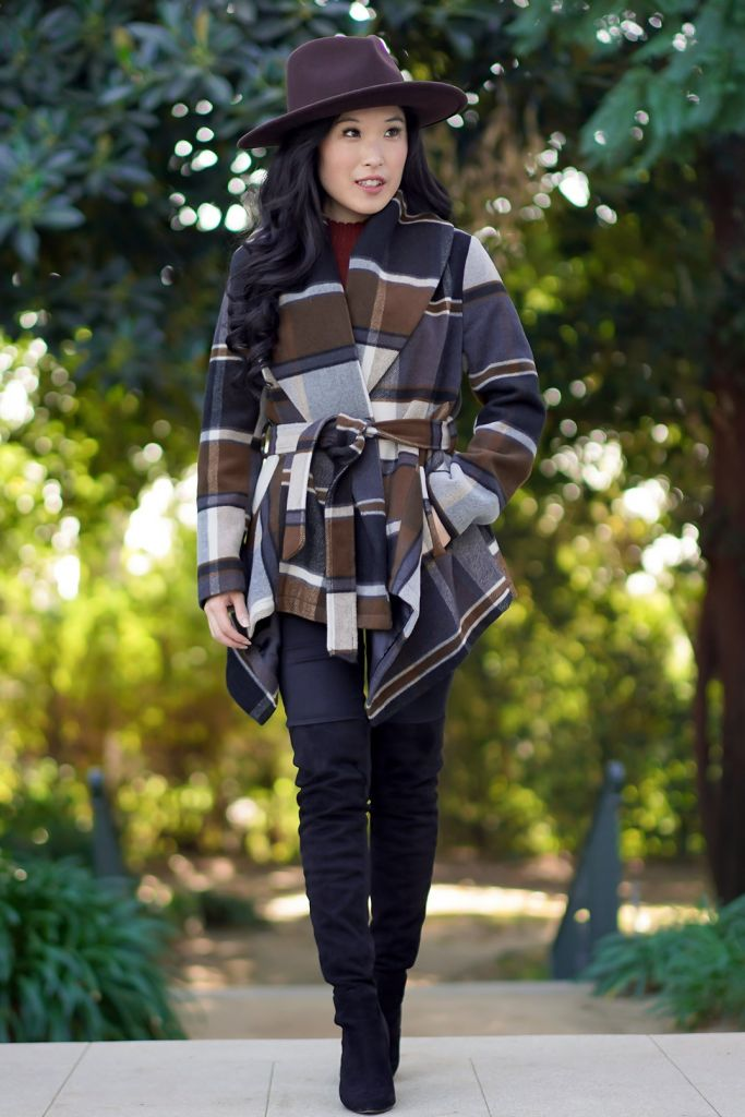 Prairie Check Rabato Coat by Chicwish, Madewell x WYETH™ Billie Rancher Hat,