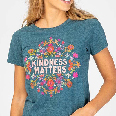 Natural Life Kindness Matters Perfect Fit tee