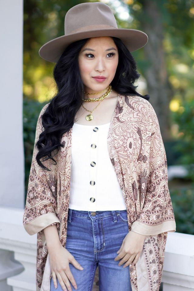 courtney-kato-uncommon-james-gold-necklaces-gigi-pip-brown-miller-hat-free-people-kimono