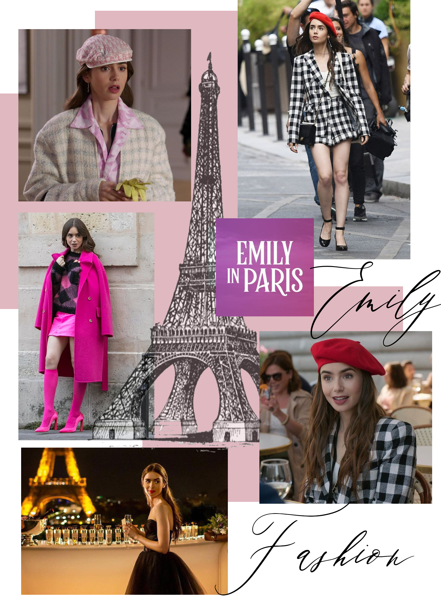 Emily in Paris Inspired Fashion and Style Collage made by Entertainment and Style
