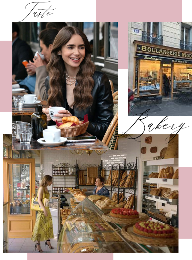 Emily In Paris Bakery and Bread Collage made by Entertainment and Style